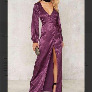 A26 Dahlia jacquard wrap dress